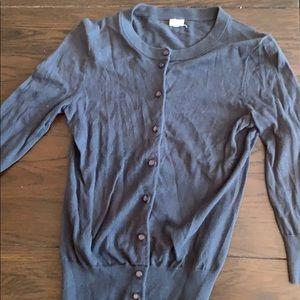 Charcoal JCrew cardigan